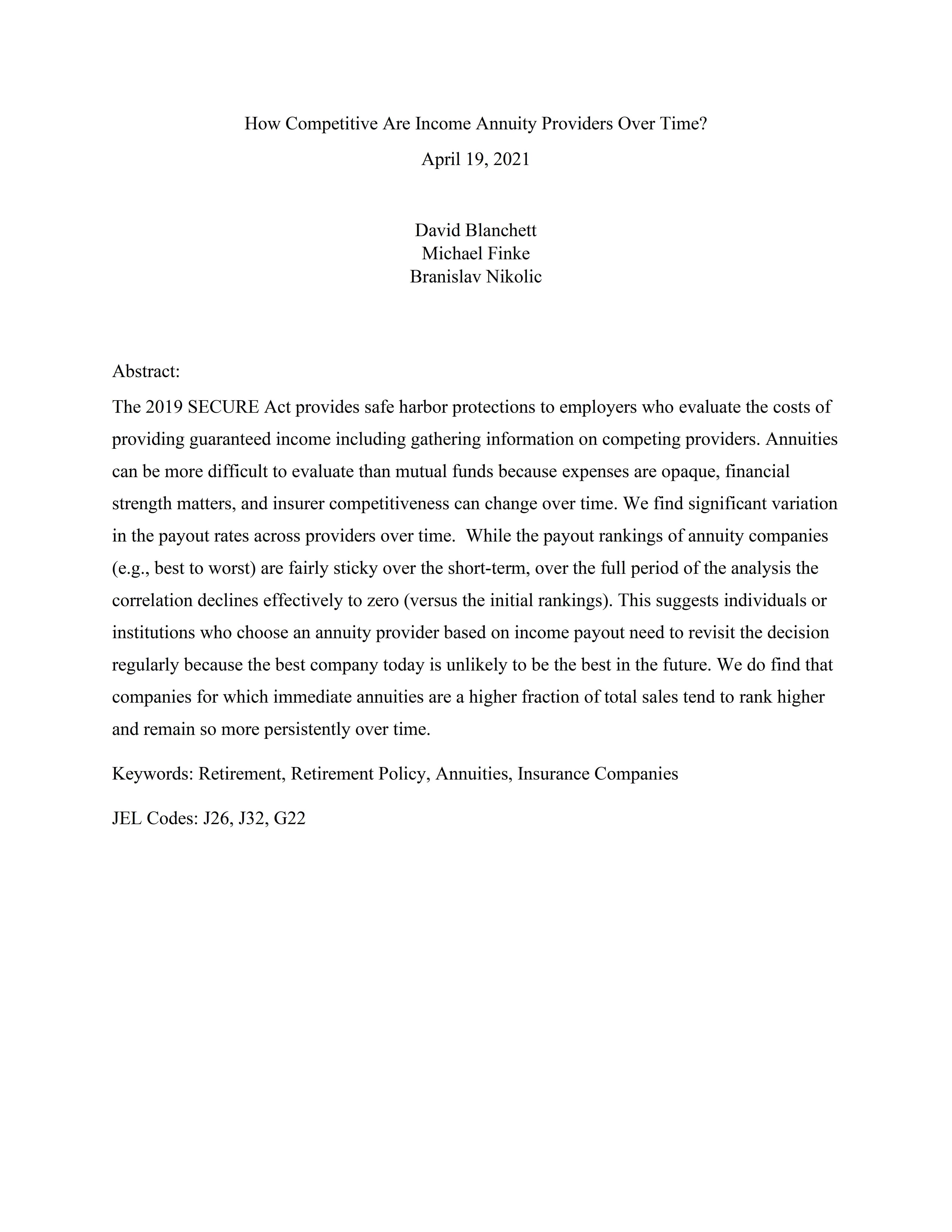 annuity-price-competitiveness-ssrn-tn